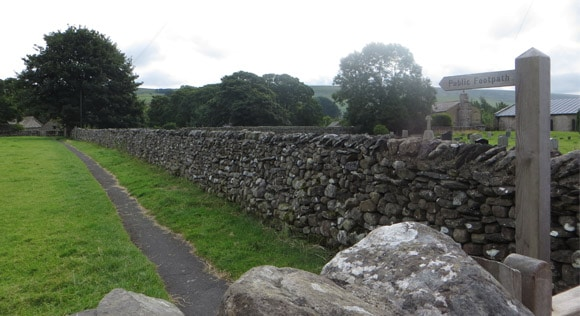 Horton-in-Ribblesdale-church-public-footpath-route
