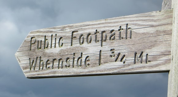 Whernside-signpost-public-footpath