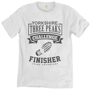 Yorkshire Three Peaks Finisher T-shirt White Sidebar