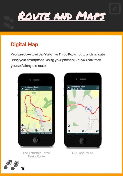 Yorkshire Three Peaks Guide Preview Digital Map