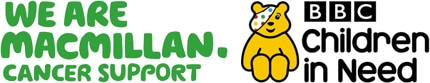 Macmillan and Children in Need logo