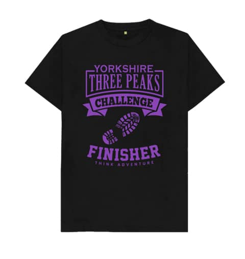 Yorkshire Three Peaks T-shirt Purple