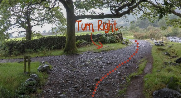 Right turn near Wasdale Car Park