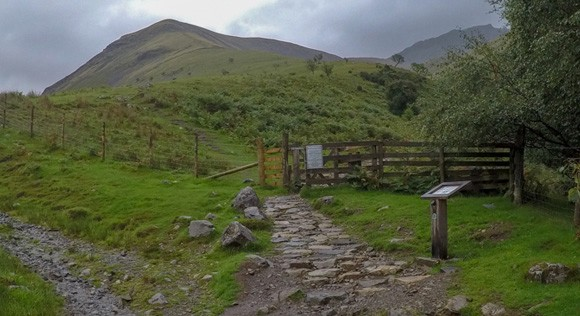 Small gate on Scafell Pike route