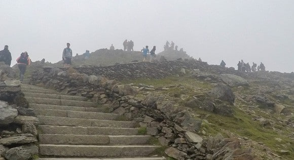 Steps leading to Snowdon Summit