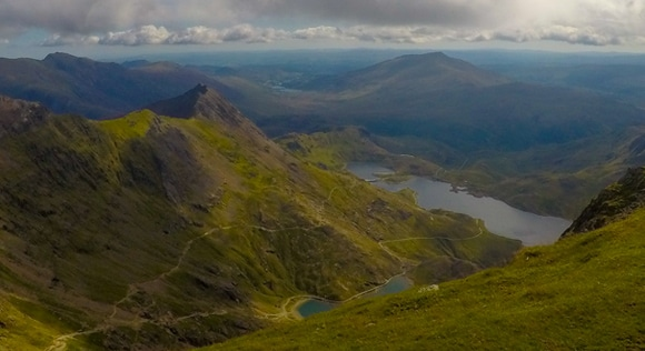 View from near the top of Snowdon