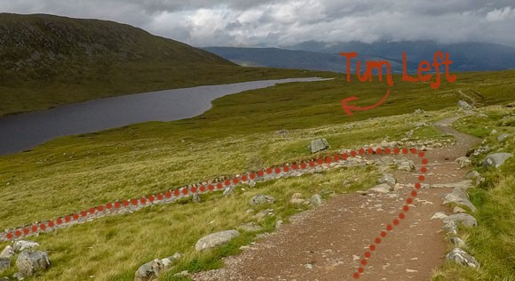 critical turning point at Lochan Meall an T-suidhe