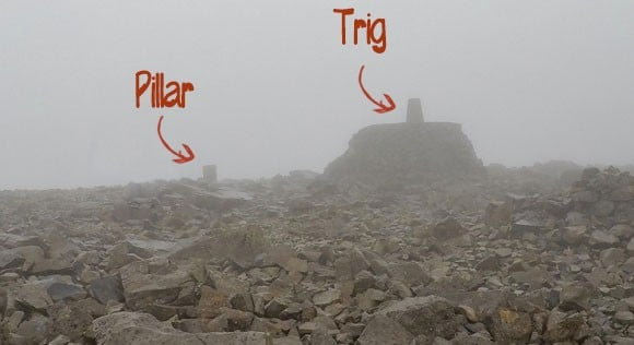 pillar and trig ben nevis summit