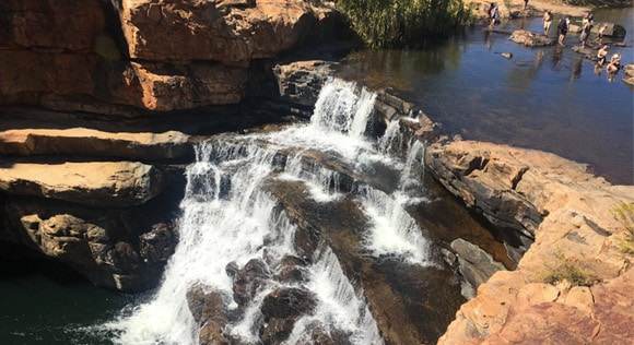 Bell Gorge waterfall and swimming area