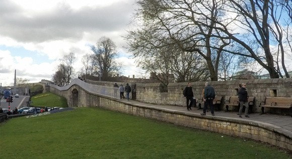 First section of the york walls