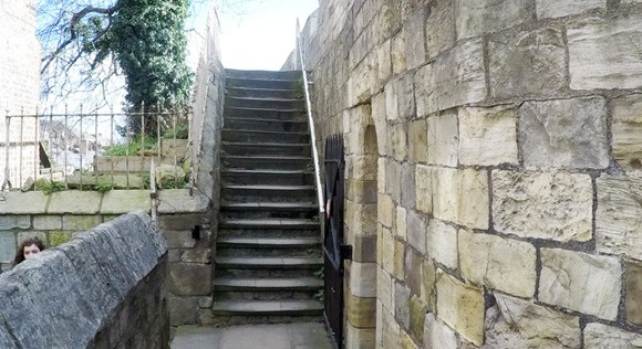 Stairs leading away from Micklegate