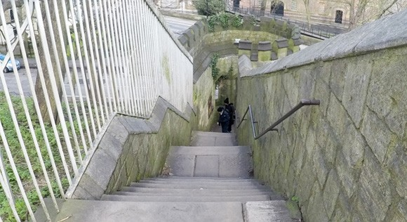 Stairs leading to Baile Hill