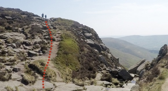 Path leading to Grindsbrook Clough 2