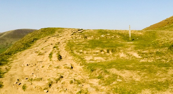 Rocky path with signpost