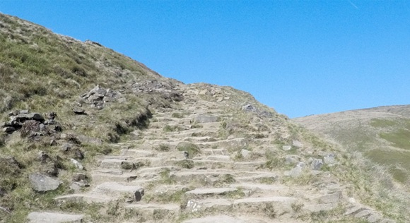 Steep steps at Jacobs Ladder