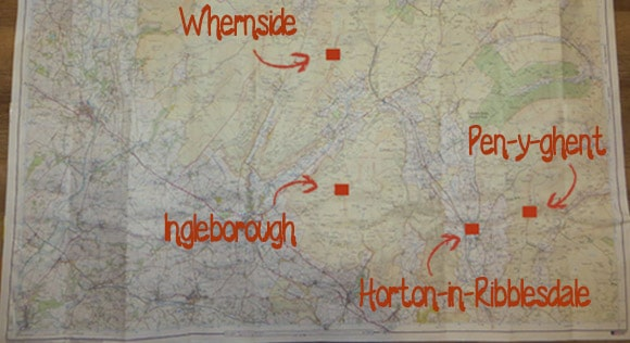 Pen-y-ghent-whernside-ingleborough-on-OS-map