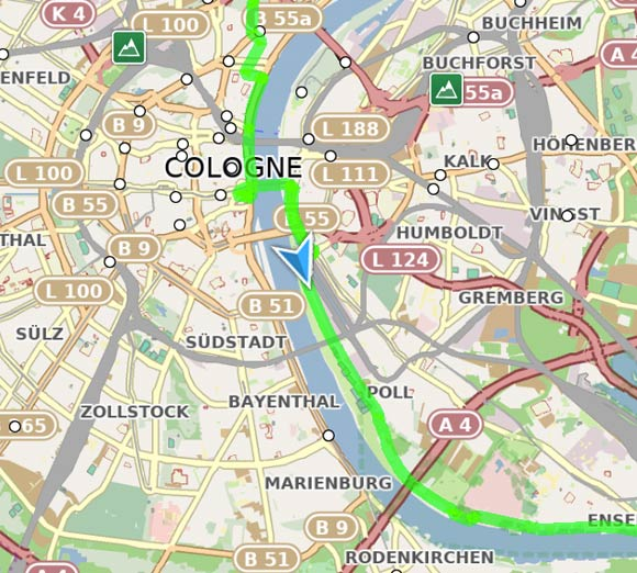 GPS and GPX route of Eurovelo 3