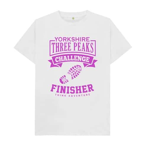 Yorkshire Three Peaks T-shirt Pink