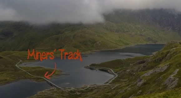 Miners Track viewable from Pyg Track