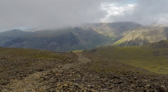Route down Scafell Pike