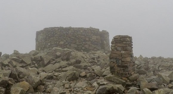 Scafell Pike Trig and Shelter