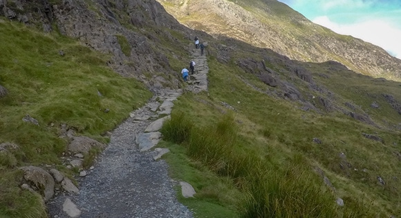 Slope up pyg track