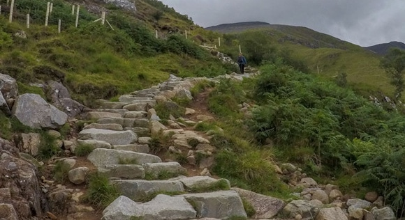 Steps leading up Ben Nevis
