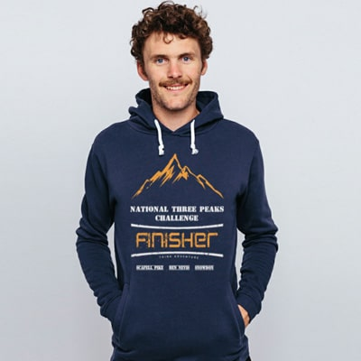 Blue National Three Peaks Hoody Model