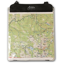 Waterproof map case for hiking