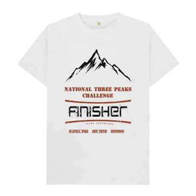 White National Three Peaks Tshirt