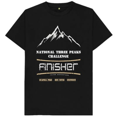 black National Three Peaks tshirt