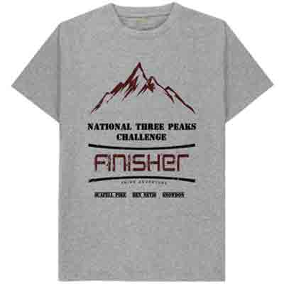 grey National Three Peaks tshirt