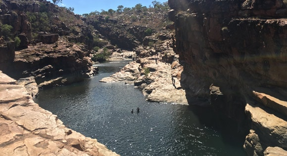 Swimming at Bell Gorge