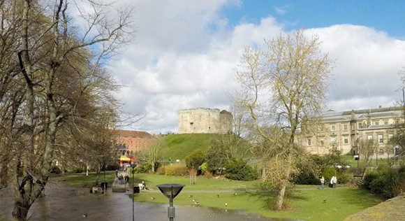 Cliffords Tower from Skeldergate Bridge