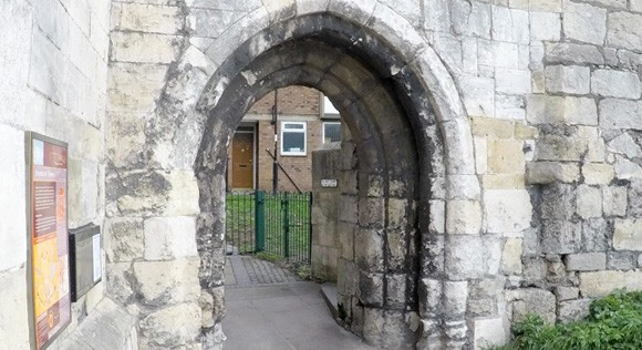 Fishergate tower archway