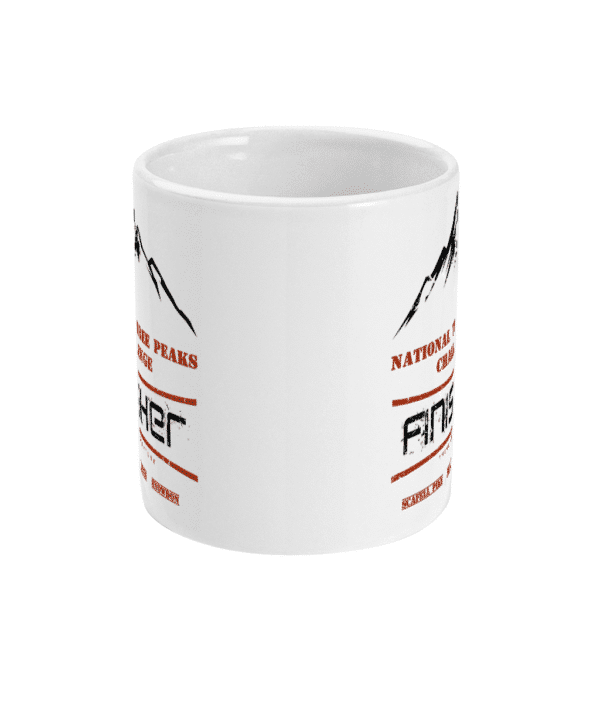 National Three Peaks Black and Red Mug Front
