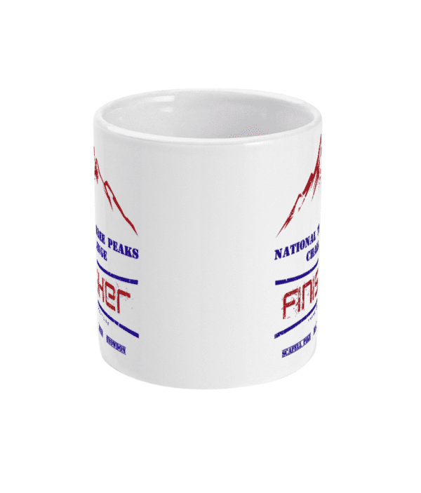 National Three Peaks Mug Navy and Red Front