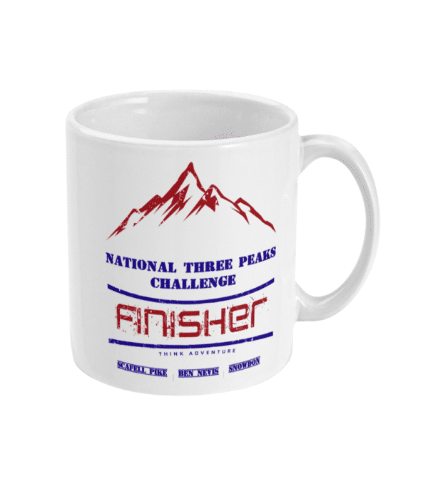 National Three Peaks Mug Navy and Red Right
