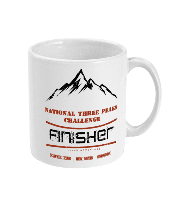 National Three Peaks black and red mug right