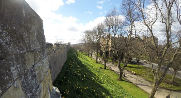 Outside of the York Walls