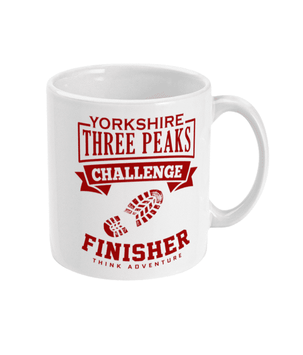 Yorkshire Three Peaks Red Mug Right