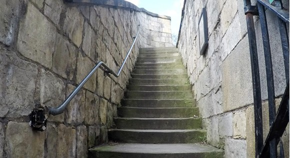 Stairs leading up Walmgate Bar