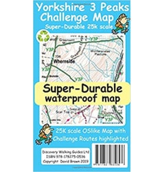 Waterproof Yorkshire Three Peaks Map
