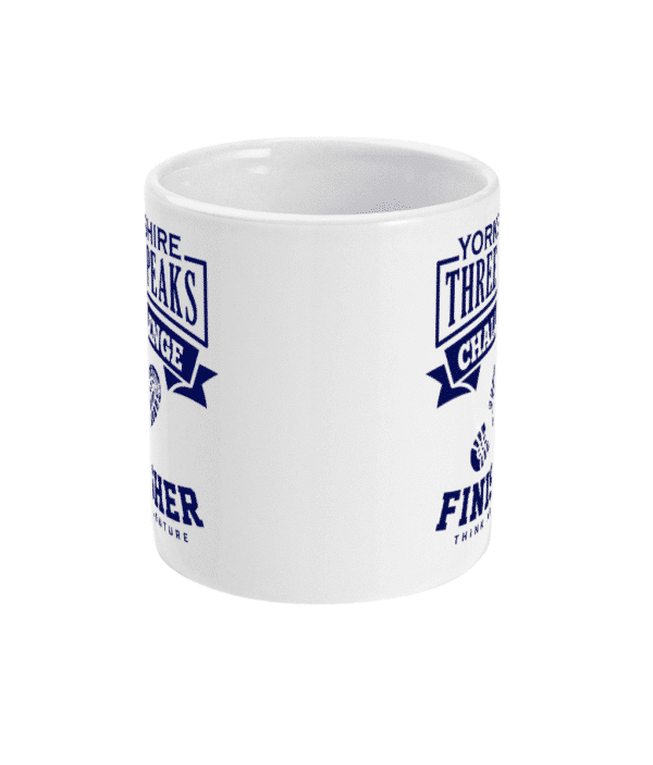 Yorkshire Three Peaks Blue Mug Front