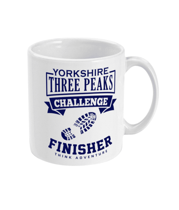 Yorkshire Three Peaks Blue Mug Right