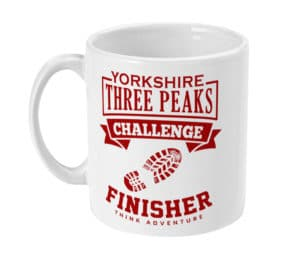 Yorkshire Three Peaks red Mug