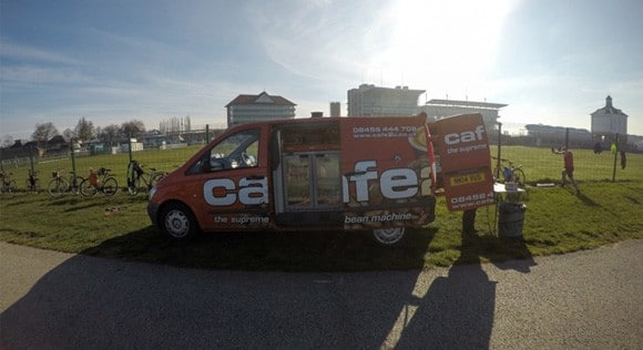 Cafe2u van at York Park Run
