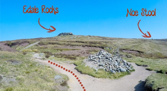 Edale Rocks and Noe Stool Path