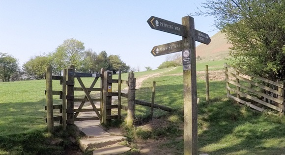 Gate on Pennine Way