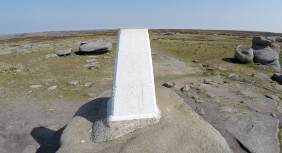 Kinder Scout Low trig close up